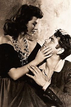 Glenn Ford and Rita in publicity pic for The Loves Of Carmen (1948).