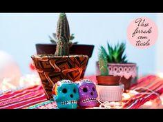DIY - Vaso forrado com tecido - Dona Florida