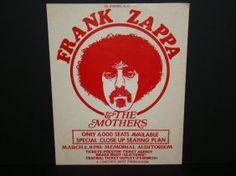 Zappa & Mothers 1969 Dallas Concert Handbill