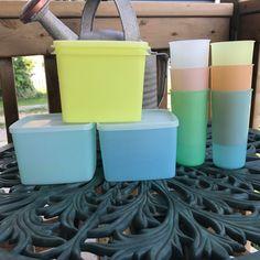 Vintage Tupperware Mixed Pastel Lot