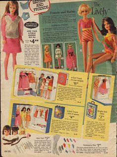 1969 Sears Christmas Catalog Page0608 by Tinker*Tailor loves Lalka, via Flickr:  I received the Barbie marked #2 in blonde for Christmas 1969.