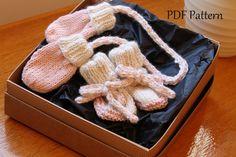 KNITTING PATTERN  Newborn Mitten and lace up by SebastianLovesKnit