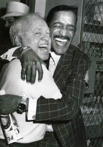 Micky Rooney & Sammy Davis Jr., 1981 NYC Backstage at Sugar Daddies on Broadway