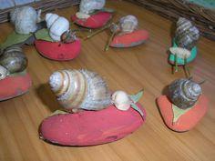 flour dough snails