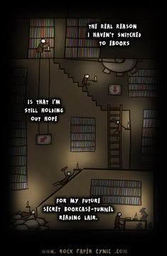 The real reason I haven't switched to ebooks [cartoon]