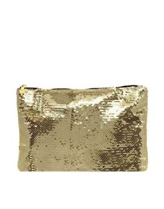 ASOS Sequin Zip Top Clutch