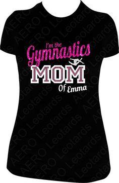 Gymnastics Mom T-Shirt Gymnastics Clothes, Gymnastics Hair, Gymnastics Stuff, Gymnastics Shirts, Rhythmic Gymnastics, Gym Hairstyles, Cheer Dance, Team Mom, Girls Softball