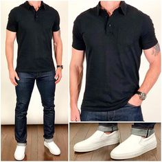 Easy Summer Style A great fitting polo and jeans is all it takes for a cool summer outfit❗️ A. Stretch Denim, Best Mens Fashion, Men's Fashion, Fashion Styles, Fashion Tips, Fashion Trends, Fashion Ideas, Fashion Inspiration, Guy Style
