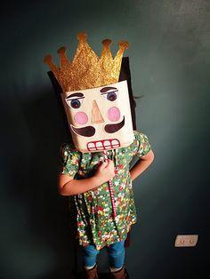 Make DIY Cereal Box Masks (Nutcracker for Christmas? Kids Crafts, Projects For Kids, Diy For Kids, Arts And Crafts, Cool Diy, Fun Diy, Little People, Little Ones, Crafty Kids