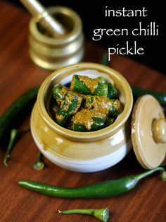 chilli pickle, hari mirch ka achar, green chilli pickle, mirchi ka achar, mirchi char with step by step photo/video. Chilli Pickle Recipe, Indian Pickle Recipe, Green Chilli Pickle, Pickles Recipe, Indian Food Recipes, Vegetarian Recipes, Snack Recipes, Cooking Recipes, Andhra Recipes