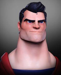 ArtStation - Man of steel, José Pontes Zbrush Character, 3d Model Character, Character Modeling, Comic Character, Character Concept, Character Design, 3d Modeling, Man Of Steel, Steel Dc