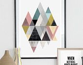 Abstract art Modern wall decor Scandinavian print by handz on Etsy