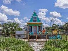"""BEACH FRONT COTTAGE! HAVE YOUR OWN HOUSE! Easily recognizable and certainly well-known, as one of the most popular and desirable of beachfront properties for locals and visitors alike, """"A Frame With A View"""" has ..."""