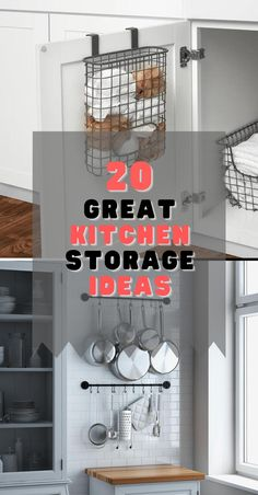 There are a few kitchen storage hacks that can help you make the most out of your space and not mix up your stuff. These hacks will ensure that you customize your area to be uniquely yours. It is enough pain to cook in a kitchen that doesn't have enough space; you shouldn't compound that pain by not knowing where what you need is. Kitchen Storage Hacks, Kitchen Hacks, Kitchen Organization, Storage Ideas, Kitchen Ideas, Small Kitchens, Cool Kitchens, Diy Ideas, Decor Ideas