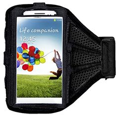 """myLife Classic Black with Flex Mesh {Rain Resistant Velcro Secure Running Armband} Dual-Fit Jogging Arm Strap Holder for Samsung Galaxy Note 4 """"All Ports Accessible"""" myLife Brand Products http://www.amazon.com/dp/B00S6V5IES/ref=cm_sw_r_pi_dp_XqaYub1CH6X0H"""