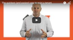 Have you ever had a tenant that you just wanted out? Chances are that you have… This short video outlines the quickest and easiest way to make that happen. Have a look: