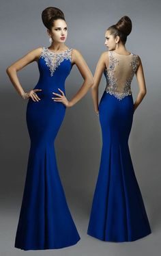 Cheap mermaid evening dresses long, Buy Quality mermaid evening dress directly from China evening dresses long Suppliers: Sexy See Through Mermaid Evening Dresses Long Blue Elegant Party Gowns Beaded Women Formal Prom Dress Custom Mermaid Evening Dresses, Formal Evening Dresses, Elegant Dresses, Evening Gowns, Formal Prom, Dress Formal, Evening Party, Dresses Uk, Fashion Dresses