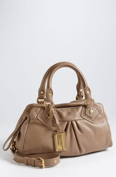 Need a brown bag    Marc by Marc Jacobs - Brown Classic Q Baby Groovee Leather Satchel--available in black at Nordstrom $284