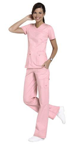 Landau Twill Collection mock-wrap scrub top and paints are my fav Nursing Uniforms, Work Uniforms, Nursing Clothes, Scrubs Outfit, Scrubs Uniform, Stylish Scrubs, Cute Scrubs, Cute Nurse, Phlebotomy