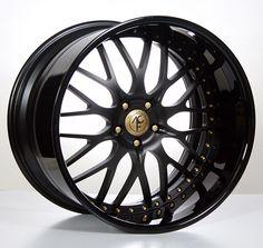 "19""20""22""24"" inch AC Forged Wheels Rims 313 BK/Gold 3 piece"
