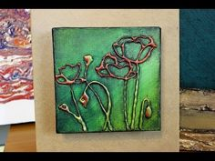 How to Paint POPPIES with HOT GLUE TEXTURE - YouTube