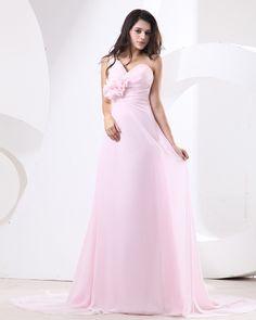 Wholesale One Shoulder Drape Handmade Flower Floor Length Bridesmaid Dresses