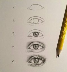 How to draw an eye Art Drawings Sketches Simple, Pencil Art Drawings, Realistic Drawings, Sketch Drawing, Eye Drawing Tutorials, Drawing Techniques, Art Tutorials, Art Inspiration Drawing, Eye Art