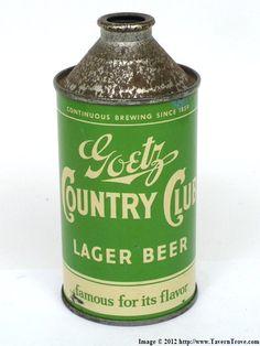 Goetz Country Club Beer