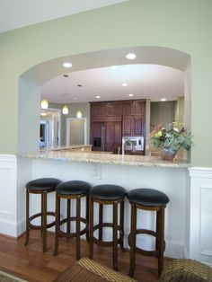 Half Wall Between Kitchen And Dining Room Kitchen Pass Through Ideas Best Kitchen Ideas Images On Half Walls Kitchen To Dining Room Pass Half Wall Kitchen Dining Room Kitchen Pass, Kitchen Redo, Living Room Kitchen, New Kitchen, Kitchen Remodel, Living Rooms, Design Kitchen, Kitchen Ideas, Pass Through Window