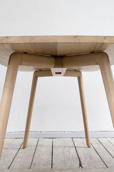 adayinthelandofnobody: Konrad table by Florian. Wood Furniture Legs, Fine Furniture, Contemporary Furniture, Furniture Design, Dinning Set, Dining Table, Wood Detail, Scandinavian Furniture, Wooden Tables