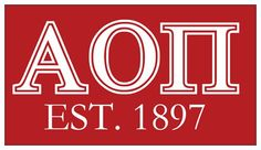 Alpha Omicron Pi Magnet . Established Style