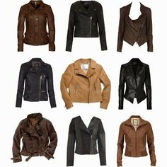 Some very stylish leather jackets - the tailored black number is my fav. Leather Jacket Outfits, Leather Jackets, Fall Winter Outfits, Autumn Winter Fashion, Parka, Looks Pinterest, Fashion Outfits, Womens Fashion, Ladies Fashion