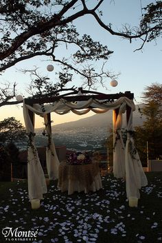 Outdoor wedding arbor--such a beautiful view! Please visit our website @ http://jewisholidays2015.com
