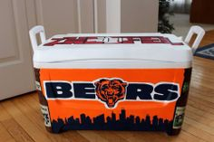 Cooler Painting Chicago Bears