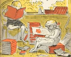 Detail from the cover of The Little Bookroom, illustrated by Edward Ardizzone Edward Ardizzone, Kids Reading Books, Vintage Children's Books, Vintage Toys, Great Paintings, Children's Book Illustration, Book Publishing, Love Book, Cute Drawings