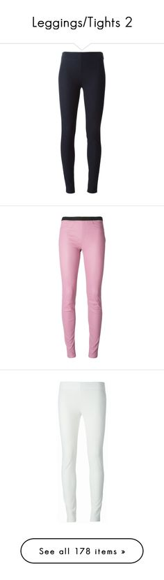 """Leggings/Tights 2"" by scarlett-hero ❤ liked on Polyvore featuring pants, leggings, jeans, blue, blue leggings, skinny leggings, skinny fit pants, super skinny pants, joseph pants and pink pants"