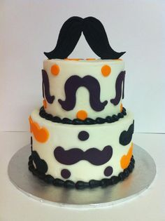 Mustache Cake 6 and iced in buttercream with fondant mustaches. Just Cakes, Cakes And More, Beautiful Cakes, Amazing Cakes, Moustache Cake, Decadent Chocolate Cake, Buttercream Icing, Cupcake Cookies, Cupcakes