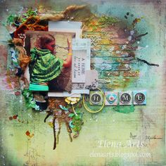 Elena Arts: To build a ... home. #mixedmedia #scrapbooking…