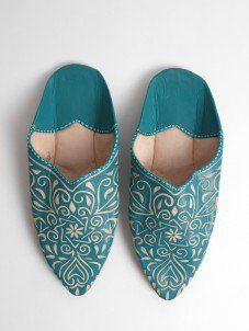 Bohemia-Teal-Slippers