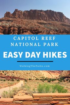 Capitol Reef National Park Day Hikes lead to petroglyphs, unique canyons, an abundance of wildlife and a sky filled with more stars than you can imagine. Capitol Reef National Park, National Parks Usa, Utah Vacation, Tennessee Vacation, Travel Usa, Alaska Travel, Alaska Cruise, Utah Hikes, Rando