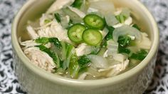 This quick and easy bok choy soup with shredded chicken and ginger is a light, comforting weeknight meal ready in less than an hour. Bok Choy Recipes, Soup Recipes, Cooking Recipes, Chili Recipes, Pea Salad, Soup And Salad, Recettes De Bok Choy, Asian Recipes, Healthy Recipes