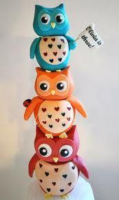 owl trio cake top