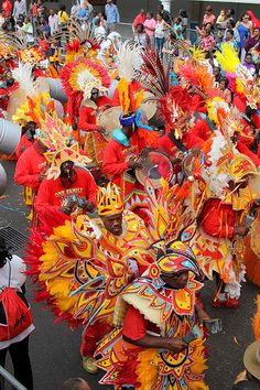 Junkanoo Festival on Bay Street  Nassau Paradise Island Bahamas This is held on NYE and is a huge parade with lots of music & costumes. I spent the millennium New Year's Eve this way...amazing.