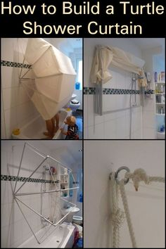 How to Build a Turtle Shower Curtain  Make bath time more fun with this unique project.