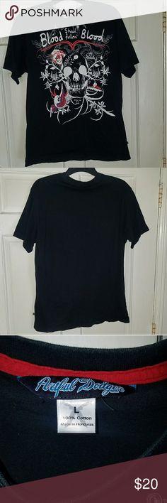 EUC - Artful Dodger Black Men's Tee Sz. L Artful Dodger black men's graphic tee. Size L. Great condition. Artful Dodger Shirts Tees - Short Sleeve