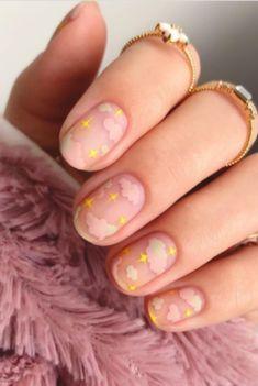 Soft Nails, Pastel Nails, Gel Nails, Nail Polish, Spring Nails, Summer Nails, Nails Ideias, Kawaii Nail Art, Cute Nail Art