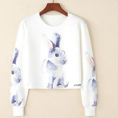 kawaii cropped sweater - cute and playful sweaters – Rebel Style Shop