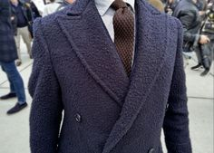 Umberto Cataldo De Pace wearing an unusual Casentino coat made by Sartoria Carfora Double Breasted Suit, Suit Jacket, Blazer, Suits, Jackets, Men, Fashion, Full Figured, Elegant
