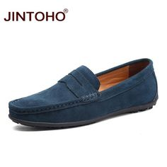8fc66042b4 JINTOHO Fashion Leather&Suede Men Casual Shoes Brand Men Boat Shoes Slip On  Leather Loafers Summer Men Flat Shoes 2018 Moccasins