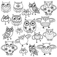 Free Printable Adult Coloring Pages - Owl Coloring Pages Owl Coloring Pages, Coloring Books, Coloring Sheets, Owl Patterns, Embroidery Patterns, Buho Tattoo, Funny Owls, Whimsical Owl, Owl Crafts